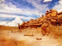 Утесы долины гоблина, парк штата Юта Стоковые Фото