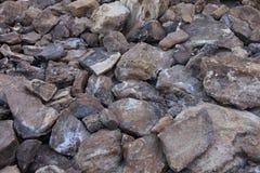 Утесы пустыни, горы атласа Стоковые Изображения RF