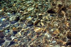 утесы реки предпосылки Стоковое Изображение RF