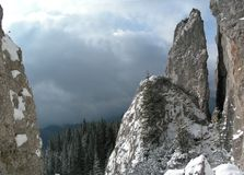 утесы Румыния гор Стоковое Изображение RF