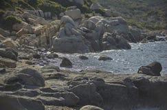 Утесы среднеземноморского побережья Сардинии Стоковая Фотография RF