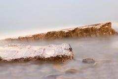 утесы тумана стоковое изображение