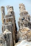 утесы штабелевок Мичигана озера главные Стоковые Фотографии RF