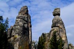 Утесы Adrspach-Teplice песчаника стоковое фото