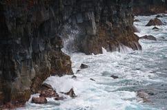 утесы maui лавы островов Гавайских островов береговой линии Стоковые Изображения