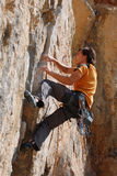 утес альпиниста Стоковое Изображение