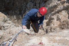утес альпиниста Стоковое Изображение RF
