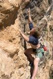 утес альпиниста Стоковые Изображения