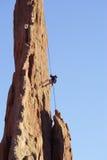 утес альпиниста стоковая фотография rf