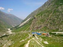 утес альпинистов лагеря Стоковое Фото