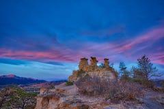 Утес амвона в Колорадо-Спрингс, Колорадо Стоковое Изображение