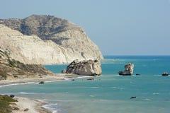 Утес Афродиты, Кипра, европы Стоковая Фотография