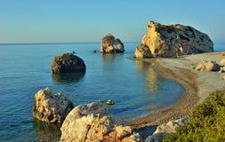Утес Афродиты - Кипра Стоковая Фотография RF