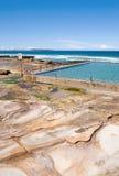 утес бассеина пляжа Стоковые Изображения