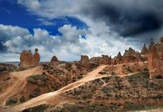 Утес верблюда в Cappadocia, центральной Турции стоковые фотографии rf