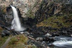 Утес водопада облицовывает осень Стоковое Изображение