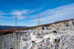 Утес времен Quarry в Barre, Вермонте Стоковое Изображение RF