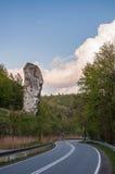 Утес вызвал клуб Геркулеса в национальном парке Ojcow стоковое изображение rf