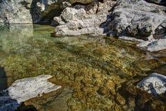 Утес в воде Стоковые Изображения RF