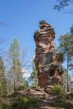 Утес в немецком лесе Стоковое Изображение RF