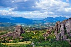 Утес в Meteora, Греции стоковое фото