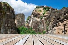 Утес в Meteora, Греции стоковые фото