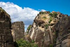 Утес в Meteora стоковое фото