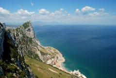 Утес, Гибралтар. Стоковое Изображение