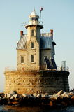 утес гонки маяка острова длинний ny Стоковые Фотографии RF
