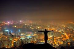 Утес Гонконг льва Стоковые Фото