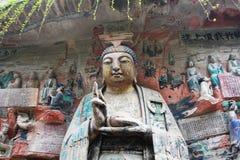 утес горы ding dazu carvings bao стоковое изображение