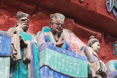 утес горы ding dazu carvings bao стоковые изображения rf