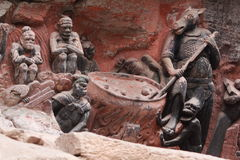 утес горы ding dazu carvings bao стоковые фото