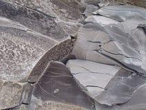 утес гранита Каменная предпосылка крупного плана текстуры Грубая каменная предпосылка текстуры Стоковые Изображения RF