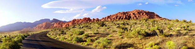 утес дороги панорамы каньона красный Стоковые Фотографии RF