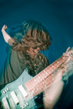 утес игрока гитары трудный Стоковое Изображение