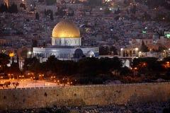 утес Иерусалима купола Стоковое Изображение RF