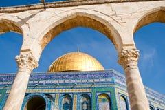 утес Иерусалима купола стоковое фото rf