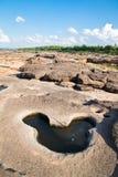утес изумительного каньона естественный Стоковая Фотография RF
