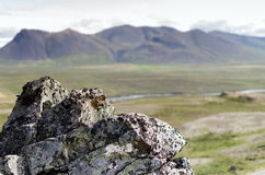 Утес и гора Стоковая Фотография