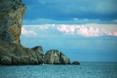 Утес и море Стоковое Изображение RF