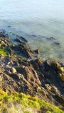 Утес и море Стоковые Изображения