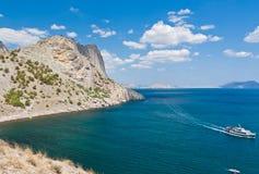 Утес и море, svet Noviy, Крым Стоковые Фотографии RF