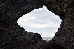 Утес и океан Австралии в Narooma стоковая фотография rf
