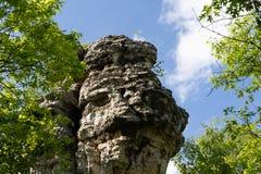 Утес камина в Hastings Минесоте высотой в фут штендер утеса песчаника 30 расположенный в Dakota County стоковые изображения