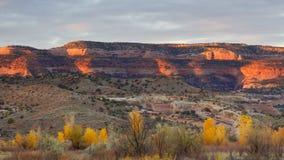 Утес каньонов McGinnis красный стоковые изображения rf