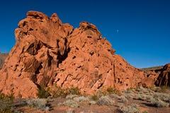 утес красного цвета луны Стоковые Фотографии RF