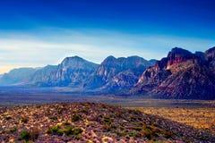 утес красного цвета Невады каньона Стоковые Изображения RF
