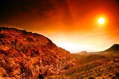 утес красного цвета Невады каньона Стоковое фото RF