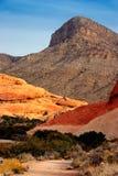 утес красного цвета Невады каньона стоковое изображение